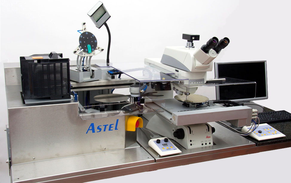 Picture of micro and macro inspection system for semiconductors wafers